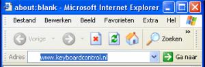 keyboardcontrol snel naar een website